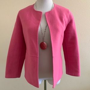 Eileen Fisher Cardigan Jacket Pink Wool Cashmere